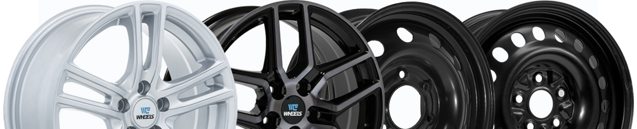 2 C-wheel alloy wheels and 2 steel wheels.