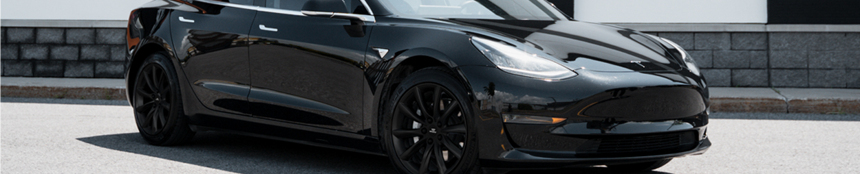 Photo of a Tesla vehicle on c-wheels alloy.